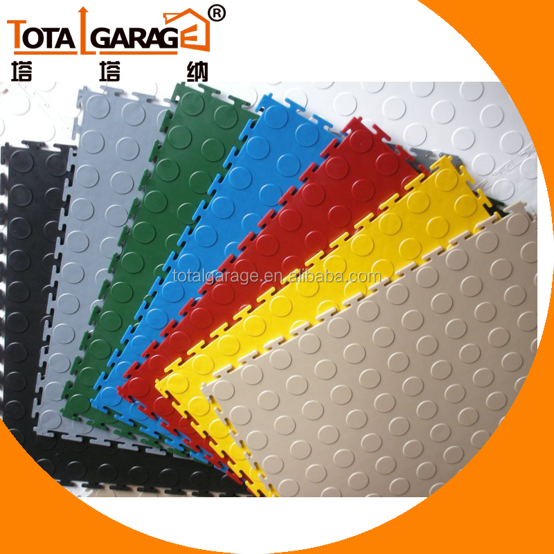 Garage PVC recycled decorative coloful car exhibition flooring with best quality