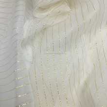 lurex silk chiffon/gold lurex or silver lurex silk fabric