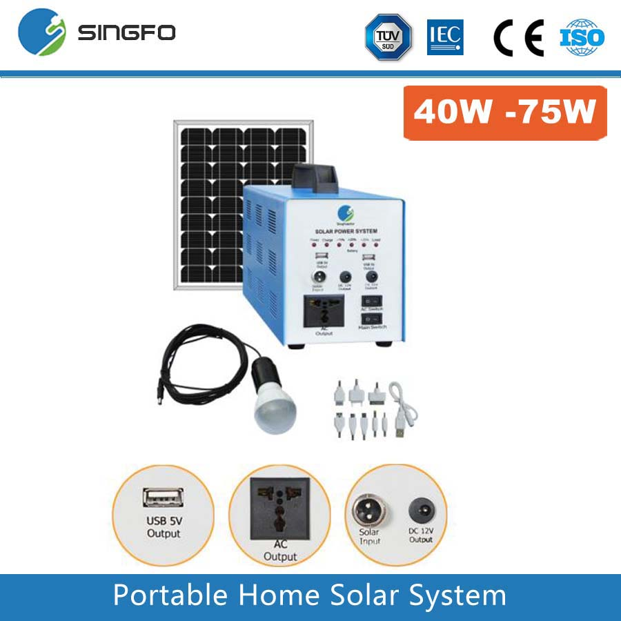 Excellent design long service life 100w 200w portable solar energy system