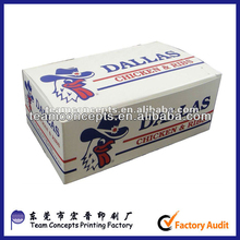 cheap fried chicken and chip take away box made in china