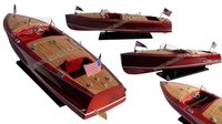 CHRIS CRAFT RACING RUNABOUT 1953 WOODEN MODEL BOAT - CRAFT BOAT