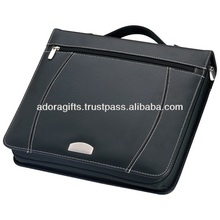 hanging file folders made in india / a4 conference folder for promotion / custom leather a4 zip folder