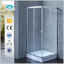 Square low trays 90x90cm polished aluminium frame shower room, showe box, shower cubicle with CE certificate
