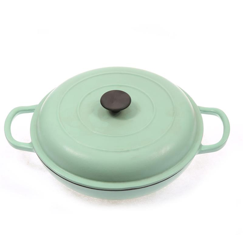 non-stick cast iron enamel cookware set
