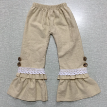 Persnickety ruffle raglan pants baby remarked double ruffle capri pants 2016 fall wholesale children's boutique Lily clothing