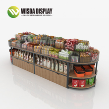 Shopping Display Rack Wood Finished Fashionable Style China Snacks <strong>Shelves</strong>