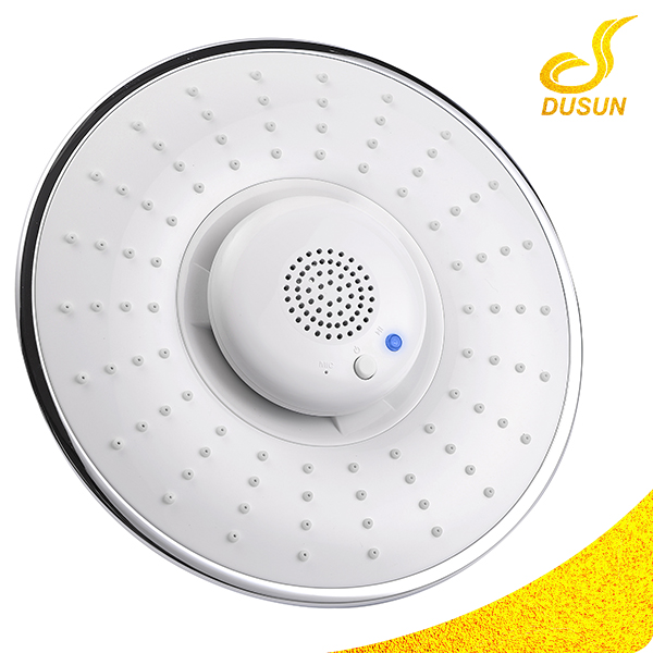 Portable Rainfall ABS chromed bluetooth speaker wall mounted shower head