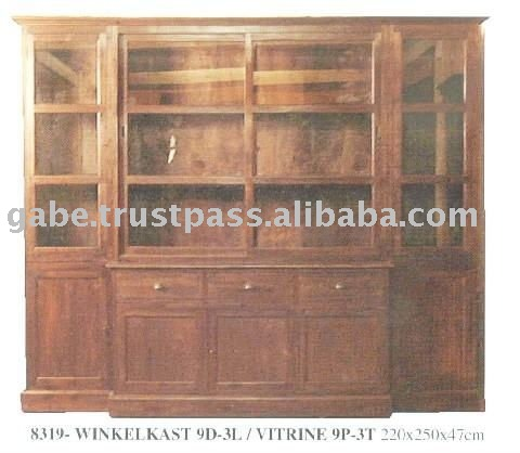 LIBRARY VITRINE BUTTERFLY DOOR CABINET