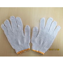 Cheap stock 35g bleached white working <strong>safety</strong> cotton gloves