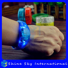 Factory Price Concert/Show Silicone Light Up Motion Activated Led Bracelet