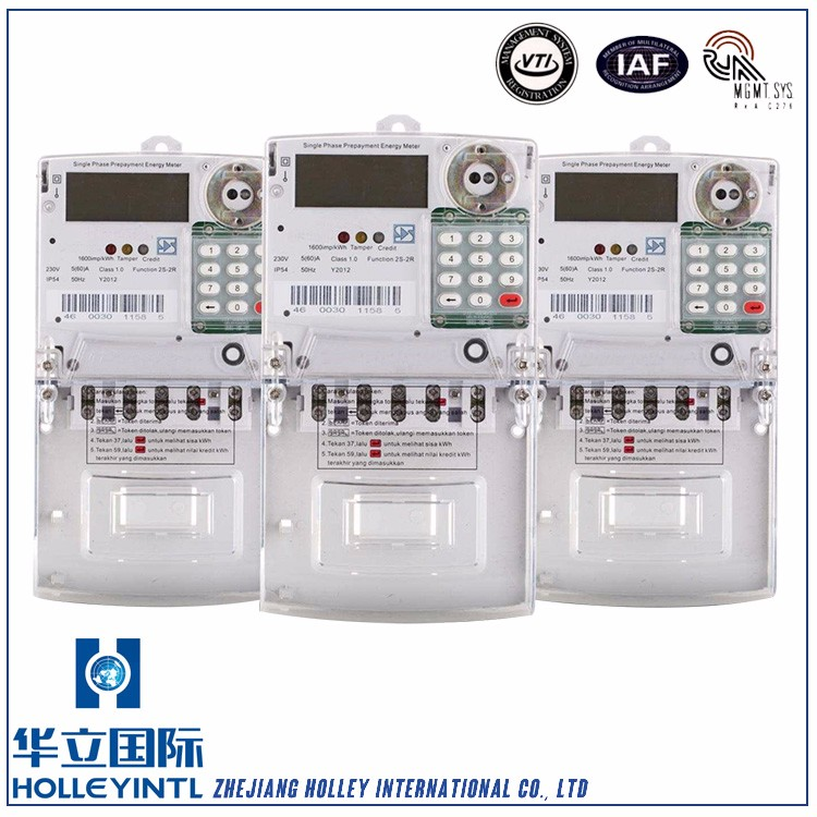 Auto scrolling and manual display Single Phase Electric Meter