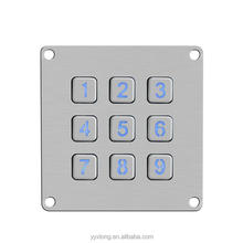 Waterproof lcd keypad shield 1602 numeric button touch