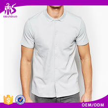Hot Sale New Design Guangzhou Shandao 180g 100% Cotton Short Sleeve Casual Men Famous Brand Clothes