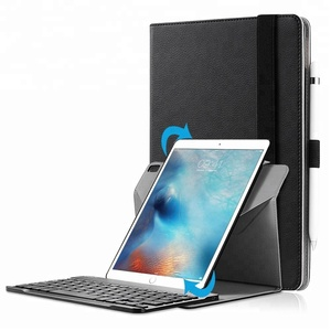 Removable 360 rotating bluetooth keyboard leather stand case for iPad pro 9.7/ipad air/air 2/new iPad 9.7 2017/2018
