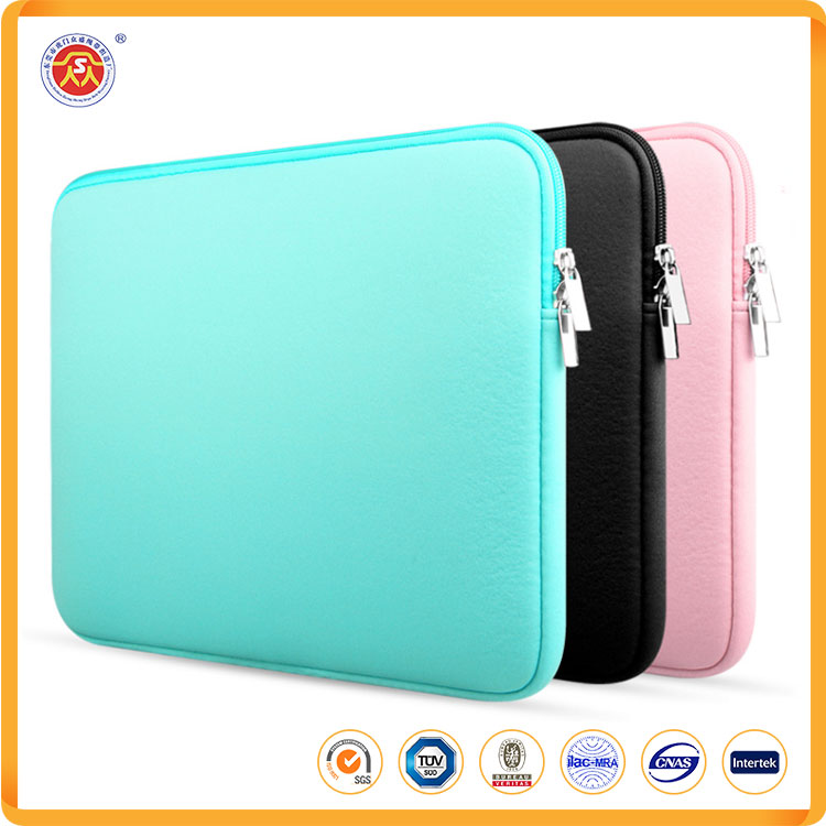 14'' 15'' 16'' Factory price neoprene computer case with double zipper computer protection package