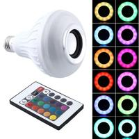 LED RGB Color Bulb Light E27 Bluetooth Control Smart Music Audio Speaker Lamps bluetooth led lamp speaker