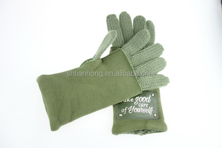 Excellent quality hotsell half finger knitted acrylic gloves