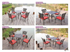 outdoor patio furniture cast iron garden dining set