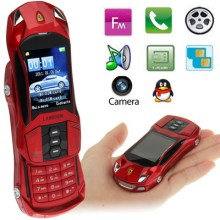 Car shape model F8 Red Slide Metal Material Mobile Phone Blutooth FM Function dual sim GSM900 1800MHZ smallest Car mobile phone