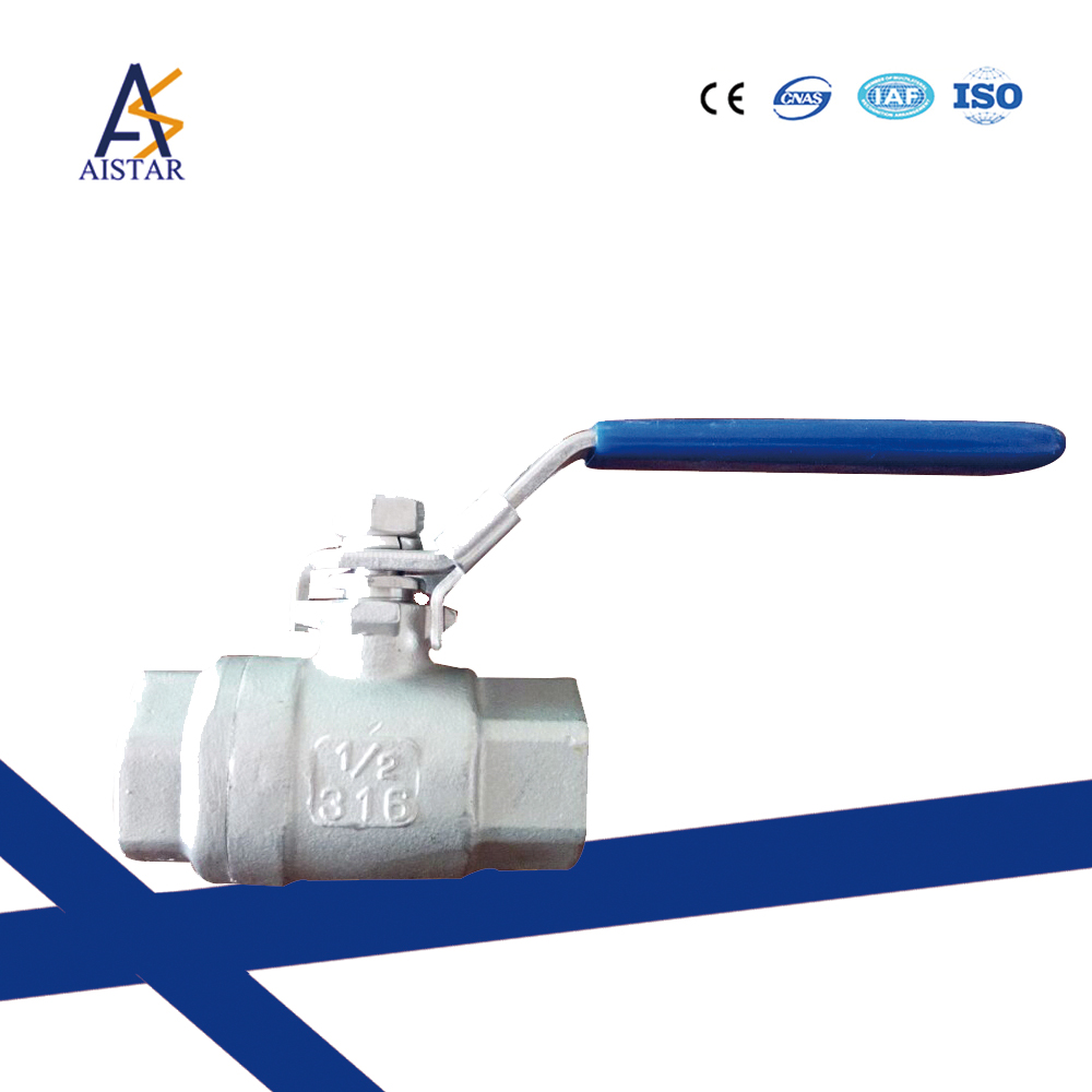 Female male aluminium long stem ball valve