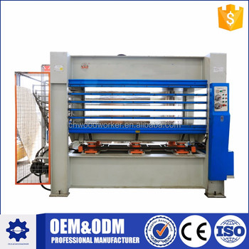 Woodworking hot press machine for plywood panel furniture