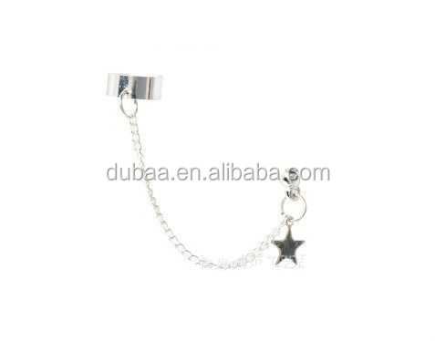 Wholesale Fashion Alloy Ear Cuff,Star Charm Women Cuff Earring