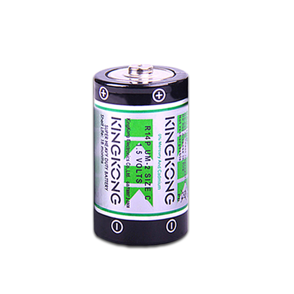 Zinc carbon battery/ R14P C metallic/ pvc jacket unrechargeable