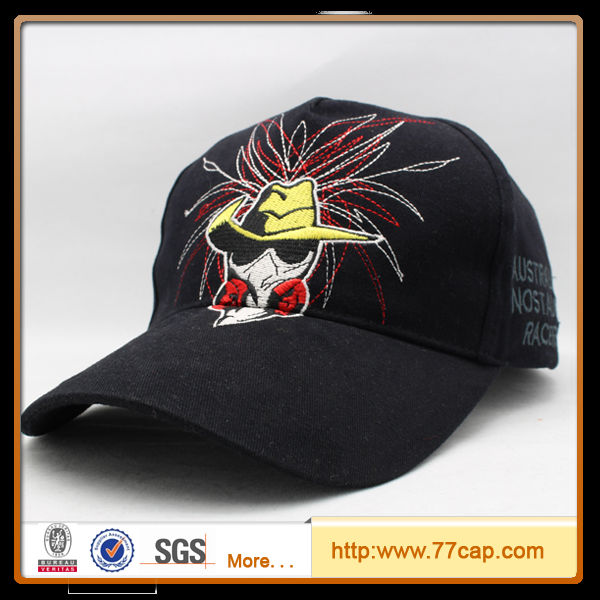 2014 High quality fashion design 3D embroidery baseball cap wolf head hat