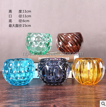 2015 new listing X-mass Valentine's Day gift wholesale hanging glass ball candle holder