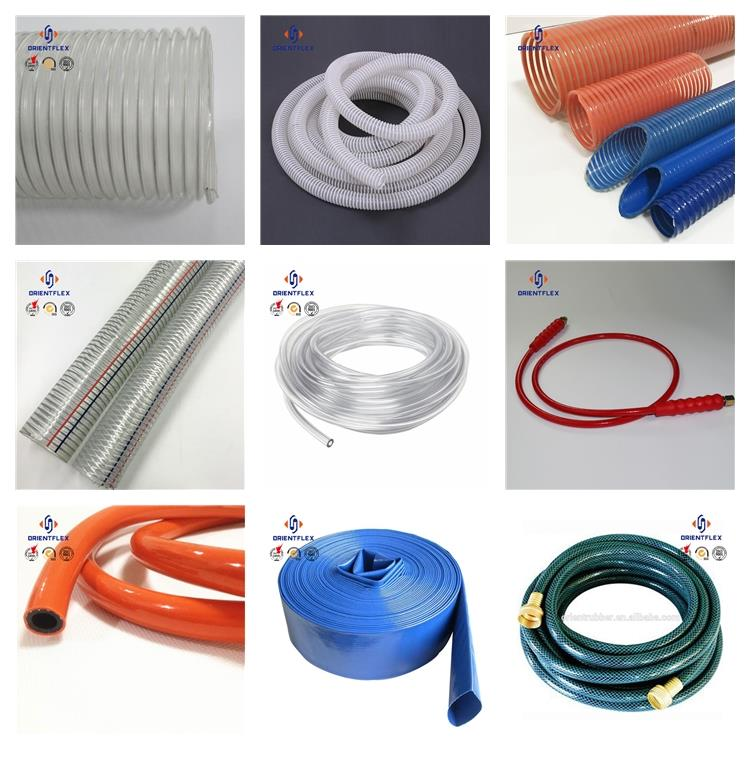 Wholesale price flexible weather resistant polurethane pu steel wire 4 inch dust collection hose factory