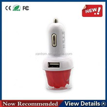 New Type Rose Flower Dual Usb Car Charger 5v 3.1a Output For Smart Phone Gps Psp With Ce Fcc Rohs