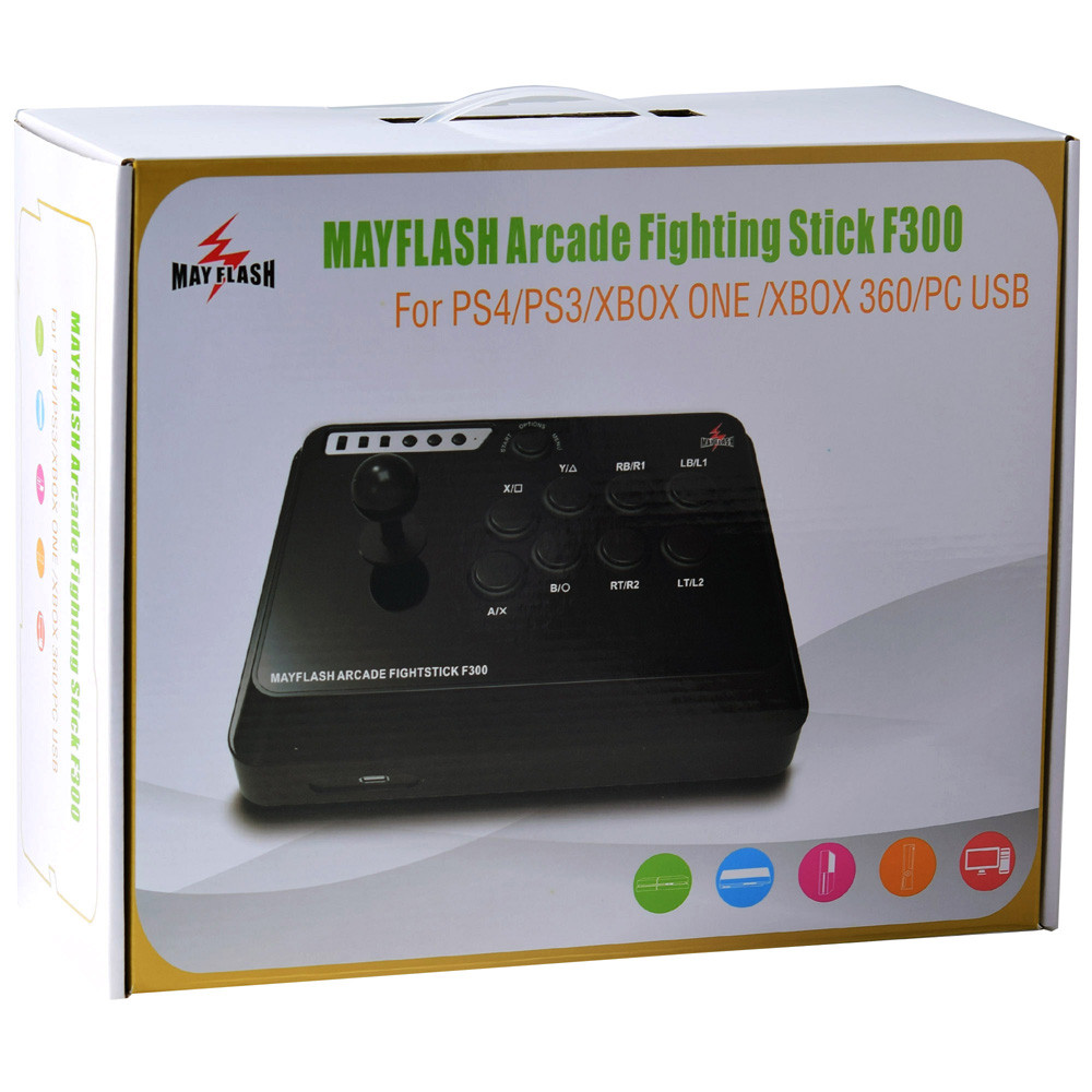 Mayflash Arcade Fight Stick Joystick Fightstick F300 for PS4 / PS3 / XBOX ONE / XBOX 360 / PC