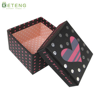 Square fresh flower print paper wedding cardboard gift packaging box for flowers