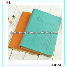 colored leather journal/personlized 2014 logo printing agenda