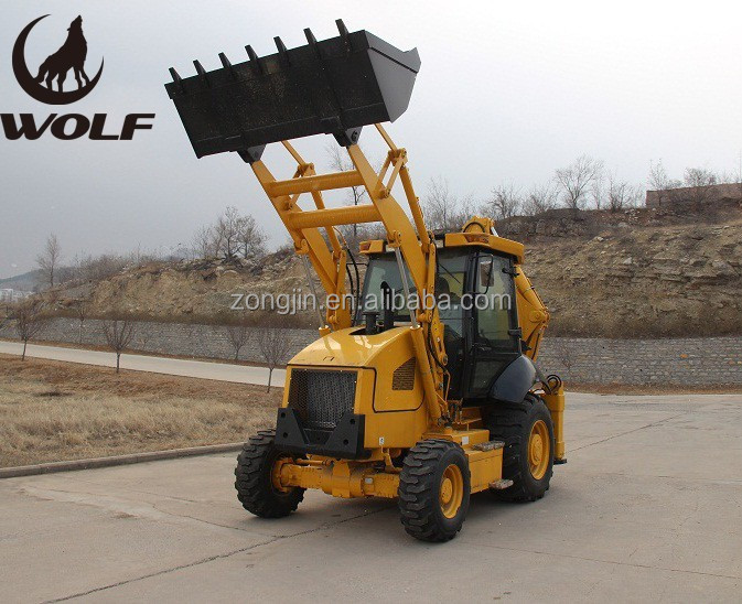 Newest WOLF small tractor loader backhoe JX45 with CE approved