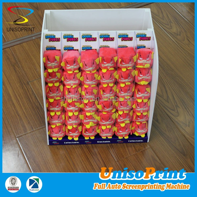 Toys display counter PVC foam board tabletop protable and modern plastic display stand
