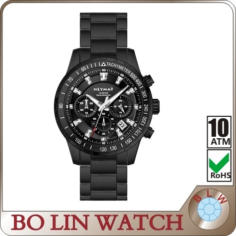 eagle face chronograph watch make custom customized own logo personlized leather band custom watch