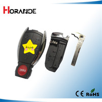 horande smart key case for Mercedes Benz 3+1 buttons with key blade and battery holder usa style