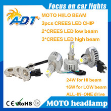 Motorcycle Replace halogen bulb LED headlight