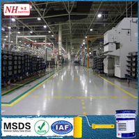 aerospace mirror surface epoxy resin self leveling floor coating