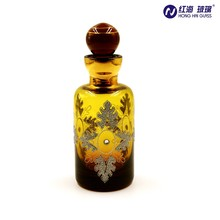 0863 wholesale hand blown 300ml glass empty perfume bottle with glass stopper