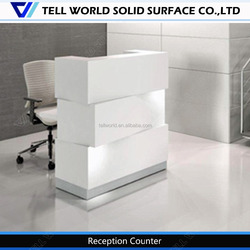 Modern Luxury Hotel&Salon Reception Counter Illuminated Reception Desk by best sales
