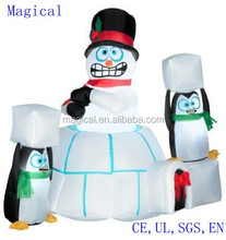 Snowman In Igloo Christmas Inflatable 5feet wide
