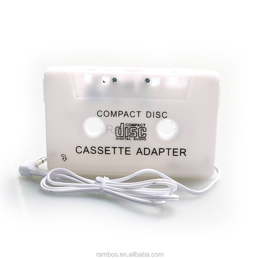 In Car Cassette Tape Audio Adaptor Adapter for iPod Nano MP3 for iPhone for Samsung CD MD Player 3.5mm Jack