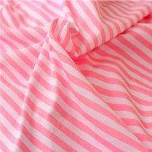 Spring summer t shirt fabric stripe cotton nylon blend fabric