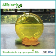 Glass Box Candy Small Yellow Christmas Balls for Party