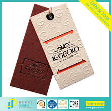 Custom high quality paper card and logo printed swing hang tag