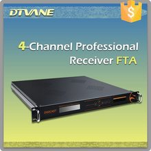 (DMB-9004) DTV Broadcasting Headend 4 chanenls FTA Digital Satellite Receiver for DVB-S to ASI
