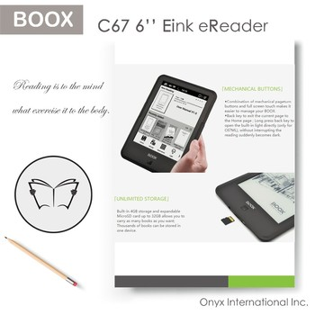 BOOX latest sell well products 6.0 inch small screen ebook reader C67 ML Carta 2