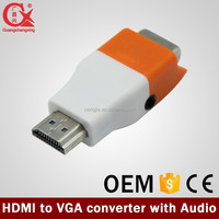 hdmi to vga adapter with power and video support 1920*1080P @60 hz